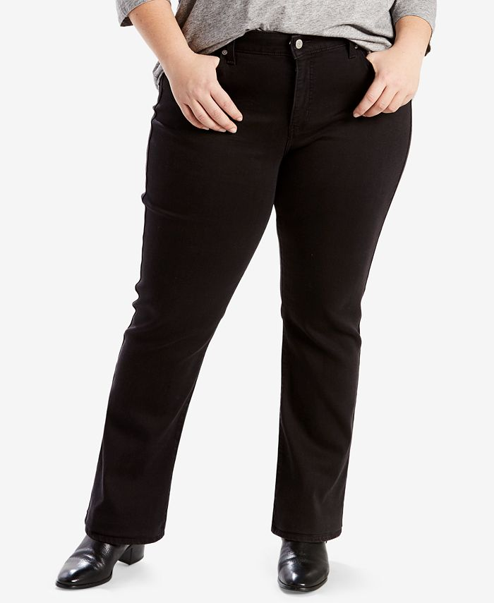 Levi's - Petite Plus Size 414 Relaxed Fit Straight Leg Jeans