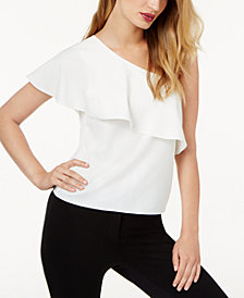 SB by Sachin & Babi One-Shoulder Ruffled Top, Created for Macy's
