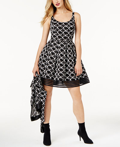 SB by Sachin & Babi Embroidered-Lace Fit & Flare Dress, Created for Macy's