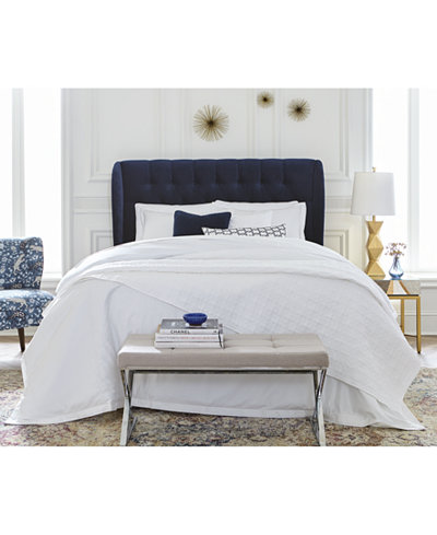 Avery Tufted Wingback Bed Collection, Quick Ship