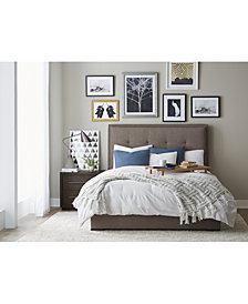 casey upholstered bedroom furniture collection - Mirrored Bedroom Furniture