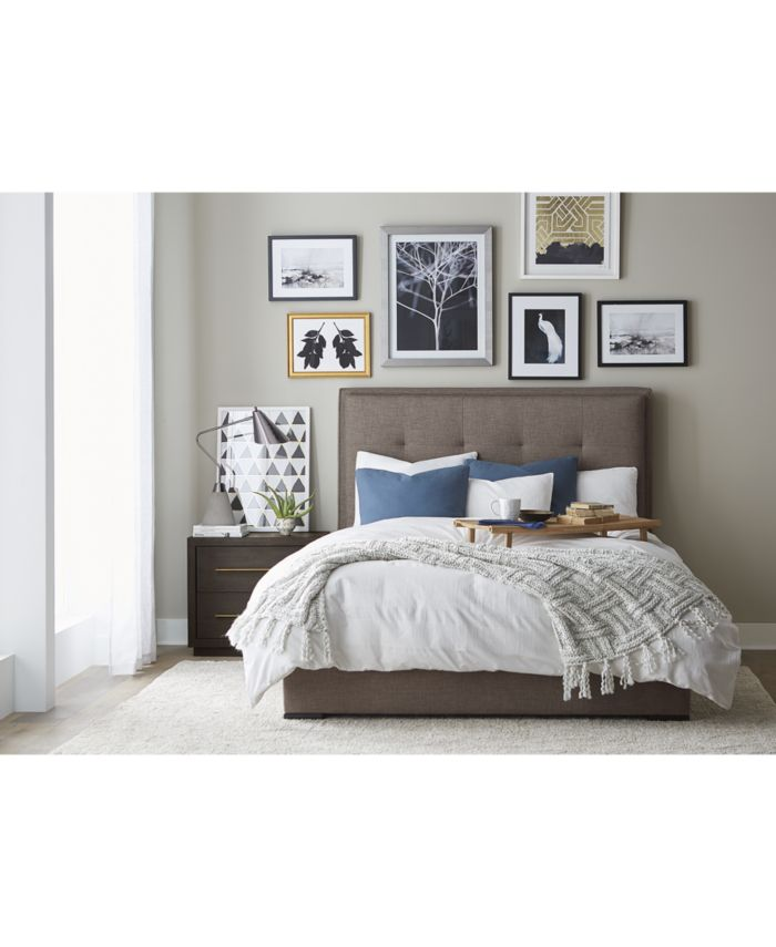 Furniture Casey Upholstered Queen Bed & Reviews - Furniture - Macy's