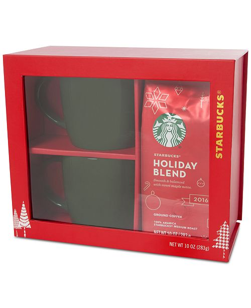Starbucks Mugs Holiday Blend Coffee Gift Set Created For