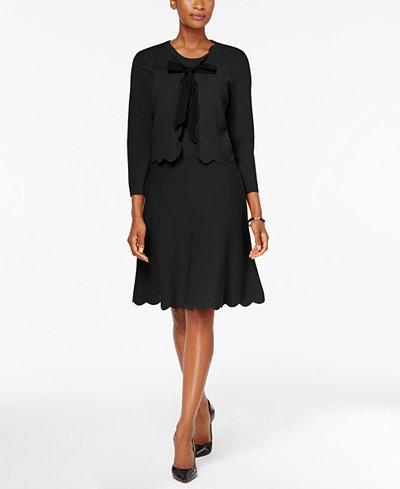 Charter Club Petite A-Line Sweater Dress & Bolero Jacket, Created for Macy's