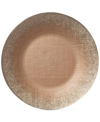 Glitter Glass Ginger Charger Plate