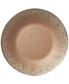 VIETRI Glitter Glass Ginger Charger Plate