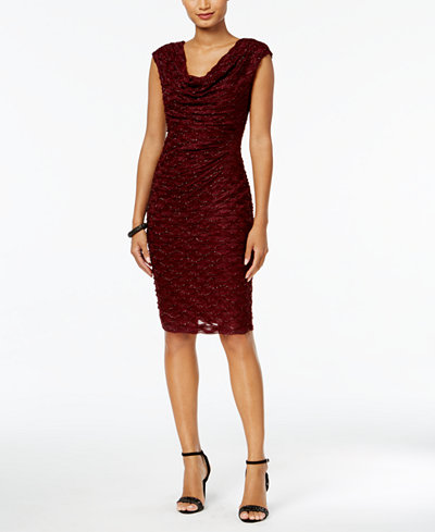Connected Draped Lace Dress