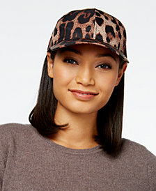 August Hats Ready for Rain Leopard-Print Baseball Cap