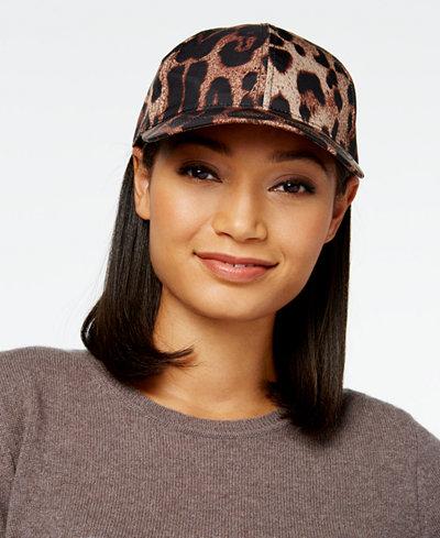 August Hats Ready for Rain Leopard-Print Baseball Cap