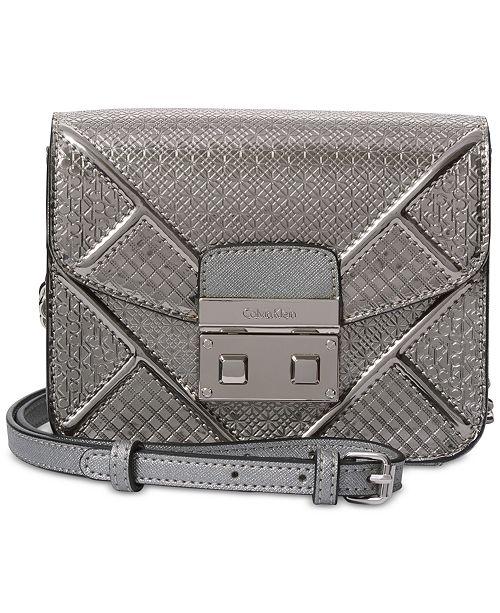 410ef55585c Calvin Klein Push-Lock Mini Crossbody & Reviews - Handbags ...
