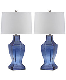 Safavieh Glass Bottom Set of 2 Table Lamps