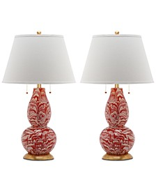 Color Swirls Set of 2 Table Lamps