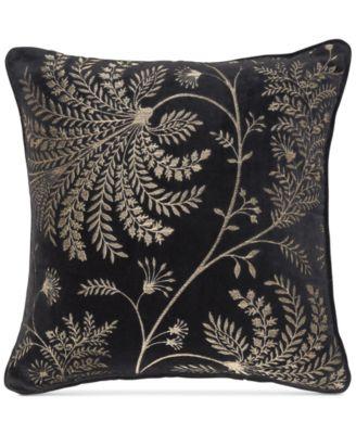 "Mapperton Embroidery 18"" x 18"" Decorative Pillow"