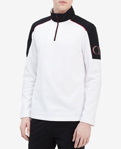 Calvin Klein Men's Quarter-Zip Fleece Sweatshirt, Created for Macy's