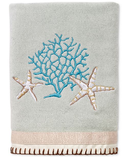 Avanti Beachcomber Cotton Embroidered Hand Towel