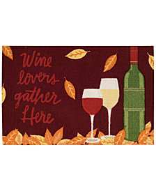 "Nourison Wine Lovers Gather Here 20"" x 30"" Accent Rug"