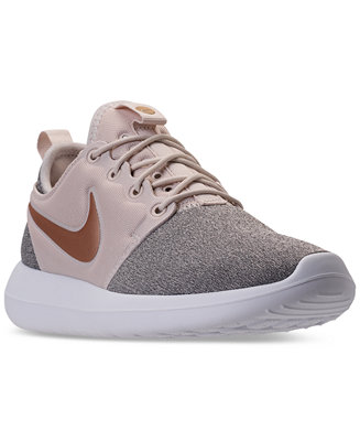 Details about Nike Roshe Two Knit Womens AA1113 100 Orewood Brown Blur Running Shoes Size 9