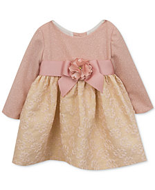 Rare Editions Glitter-Bodice Brocade Dress, Baby Girls