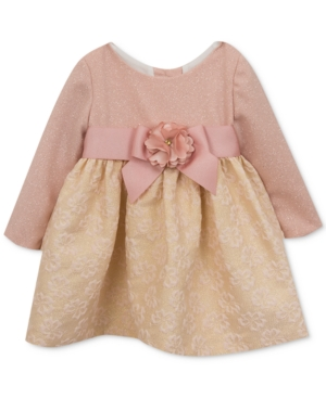 Rare Editions GlitterBodice Brocade Dress Baby Girls (024 months)