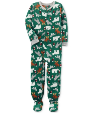 Carters 1Pc AnimalPrint Footed Pajamas Little Boys (47)  Big Boys (820)
