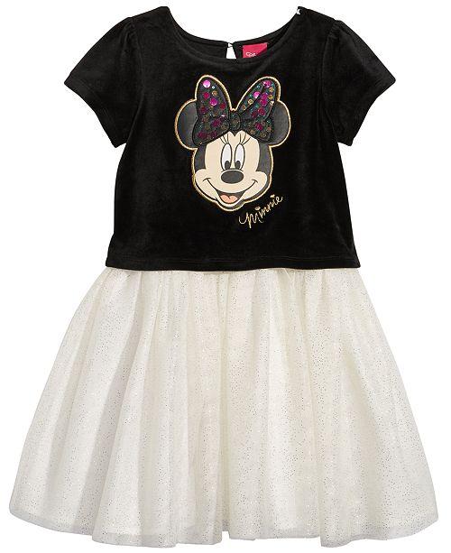9ff066b5b Disney Minnie Mouse Velvet Tutu Dress, Little Girls & Reviews ...
