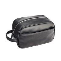 Perry Ellis Men's Faux-Leather Travel Kit (Black)