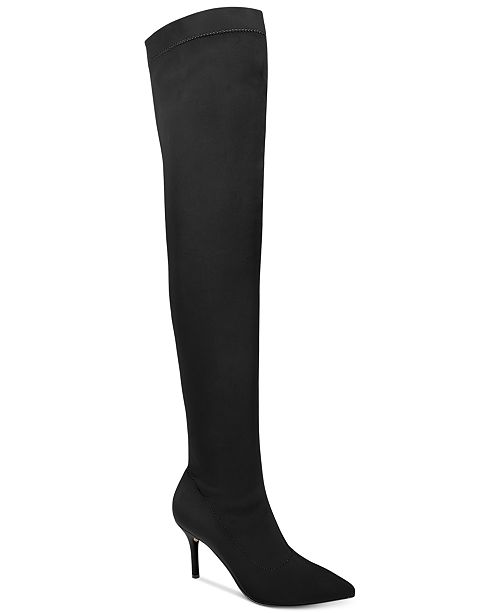 INC International Concepts I.N.C. Zaliaa Pointed Toe Over-the-Knee Boots, Created for Macy's