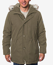 HFX Men's Faux-Fur-Trimmed Jacket