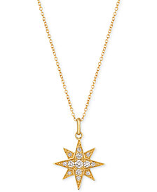 Le Vian® Strawberry & Nude™ Diamond Star Pendant Necklace (1/4 ct. t.w.) in 14k Gold or Rose Gold