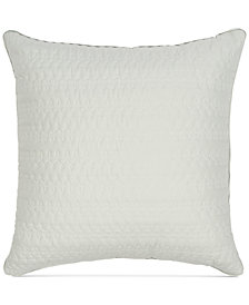 Sanderson Delphiniums Silver Sage Solid Cotton Quilted European Sham