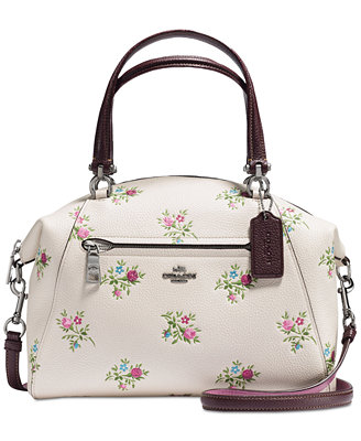 Prairie Satchel With Cross Stitch Floral Print by Coach