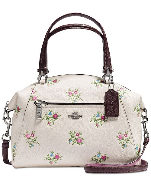 98a071ff0447 COACH Prairie Satchel with Cross Stitch Floral Print   Reviews ...
