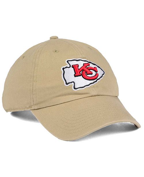 '47 Brand Kansas City Chiefs Khaki CLEAN UP Cap