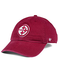 '47 Brand Pittsburgh Steelers Cardinal CLEAN UP Cap