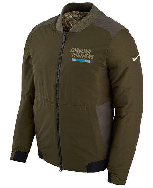 huge discount 88d1f ad8cc Nike Men's Carolina Panthers Salute To Service Bomber Jacket ...