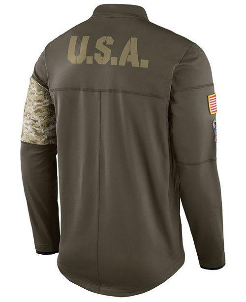 Nike Men s New York Jets Salute To Service Hybrid Half-Zip Jacket ... 0ebe29b21