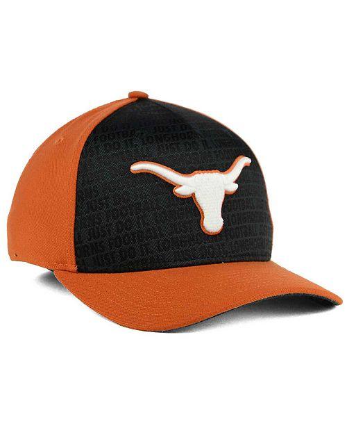 ffce5dc94658e ... clearance nike texas longhorns just do it swooshflex cap sports fan  shop by lids men macys