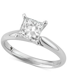 Macy's Star Signature Diamond™ Solitaire Engagement Ring (1-1/2 ct. t.w.) in 14k White Gold