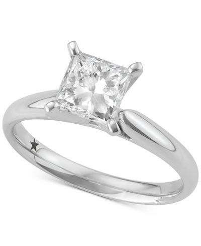 macys star signature diamond solitaire engagement ring 1 12 ct - Macys Wedding Rings