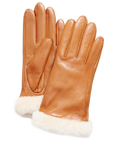 UGG® Carry Forward Classic Leather Touchscreen Gloves