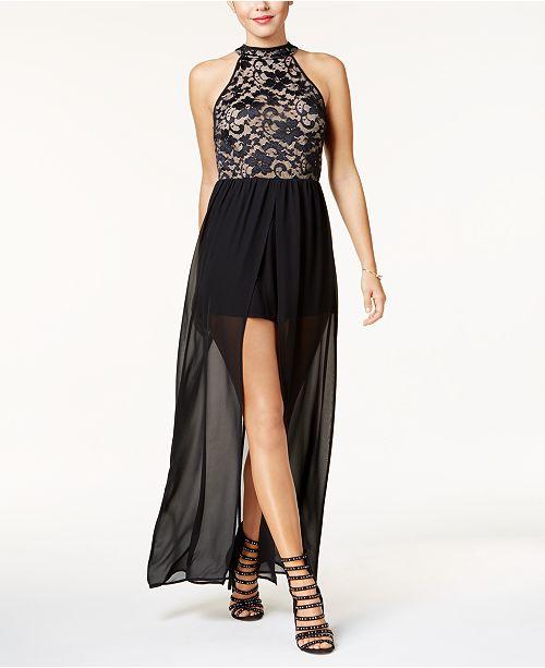 be8b6d495e7 Emerald Sundae Juniors  Lace Romper Dress   Reviews - Shorts ...
