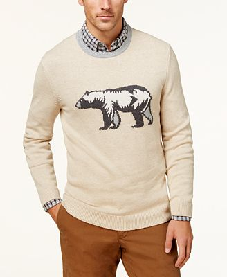 Club Room Men's Intarsia Sweater, Created for Macy's