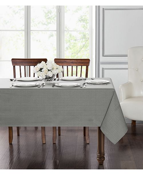 "Waterford Essentials Cordelia Gray 60"" x 104"" Tablecloth"