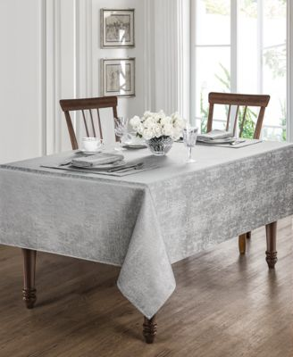 "Moonscape Silver 70"" x 126"" Tablecloth"