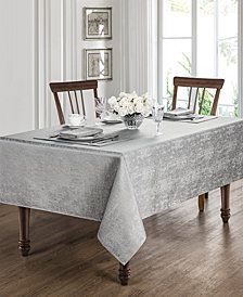 "Waterford Moonscape Silver 90"" Round Tablecloth"
