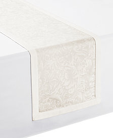 "Waterford Peony Ivory Table Runner 14"" x 90"""