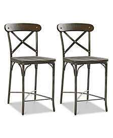 Litton X-back Counter Stool (Set Of 2), Quick Ship