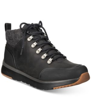 Men'S Olivert Waterproof Nubuck Leather Cold-Weather Hiking Boots in Black