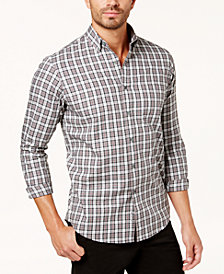 Club Room Men's Tartan Shirt, Created for Macy's