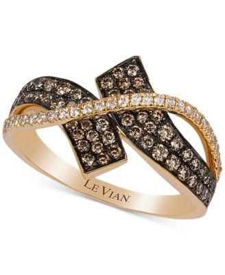 le vian chocolatier diamond bypass ring 58 ct tw in